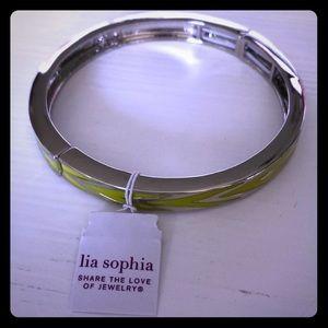 NWT Lia Sophia Vertex Citron Stretch Bracelet!